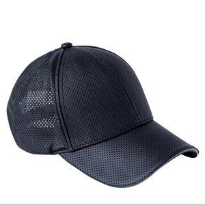 NWT ATHLETA | Perforated Faux Leather Baseball Cap